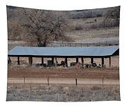Tractor Port On The Ranch Tapestry