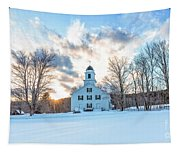 Traditional New England White Church Etna New Hampshire Tapestry