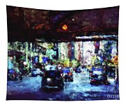 Traffic In The City Tapestry