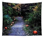 Trail Of 100 Jack-o-lanterns Tapestry