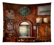 Train - Office - The Ticket Takers Window Tapestry