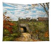 Train - Arlington Nj - Enjoying The Autumn Day - 1890 Tapestry