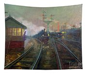 Train At Night Tapestry
