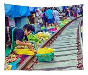 Train Market 2323 Tapestry