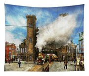 Train Station - Boston And Maine Railroad Depot 1910 Tapestry