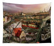 Train Station - Wuppertal Suspension Railway 1913 Tapestry