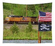 Train The Flags Tapestry