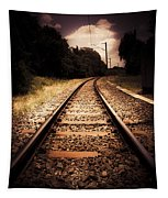 Train Tour Of Darkness Tapestry