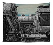 Trains Ancient Iron Sc Tapestry
