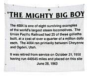 Trains Mighty Big Boy Signage Tapestry