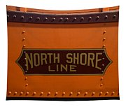 Trains North Shore Line Chicago Signage Tapestry