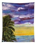 Tranquility At Kapoho Last Sunset Tapestry