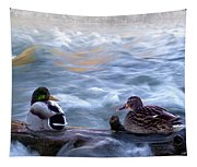 Tranquility On The River Of Life Tapestry
