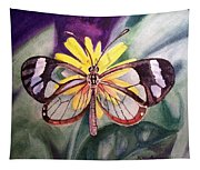 Transparent Butterfly Tapestry