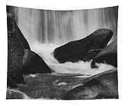 Trap Falls In Ashby Ma Black And White 6 Tapestry