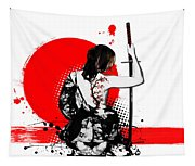 Trash Polka - Female Samurai Tapestry