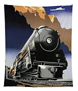 Travel Canadian Pacific Across Canada - Steam Engine Train - Retro Travel Poster - Vintage Poster Tapestry