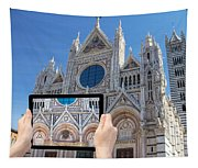 Travel To Siena Concept Tapestry