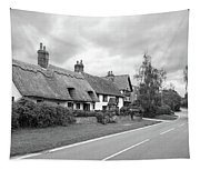 Travellers Delight - English Country Road Black And White Tapestry