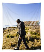 Travelling Man Touring Australia Tapestry