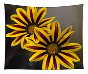 Treasure Flowers With Light Flares Tapestry
