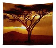 Tree At Sunset. L B Tapestry
