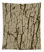 Tree Bark Texture Brown Tapestry