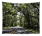 Tree Covered Road Tapestry