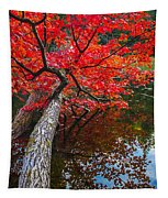 Tree In The Pond Tapestry