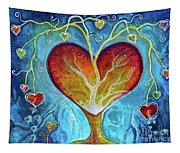 Tree Of Hearts Tapestry
