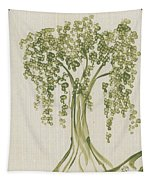 Tree On A Hill Tapestry