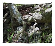 Tree Roots On The Bank Tapestry