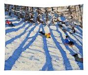 Tree Shadows Morzine Tapestry