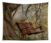 Tree Swing By The Lake Tapestry