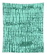 Tree Texture Turquoise Tapestry