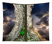 Tree Trunk Portal - 3d Stereo X-view Tapestry