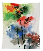 Trees In Colors Tapestry