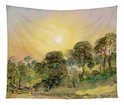 Trees On Hampstead Heath At Sunset Tapestry