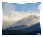 Tremendous Wind Storm On Pikes Peak Colorado Tapestry