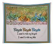 Tri Bike Bicycle Races Tapestry