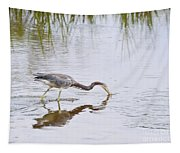 Tricolored Heron Grabs A Bite Tapestry