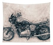 Triumph Bonneville - Standard Motorcycle - 1959 - Motorcycle Poster - Automotive Art Tapestry