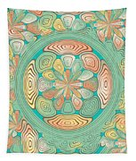 Tropical Color Abstract Tapestry