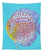 Tropical Discus Fish With Red Spots Tapestry