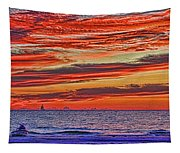 Tropical Gulf Nights Tapestry