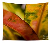 Tropical Leaf Abstract Tapestry