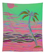 Hot Pink Coconut Palm Tapestry