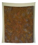 Tropical Palms Canvas Copper Silver Gold - 16x20 Hand Painted Tapestry