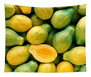 Tropical Papayas Tapestry