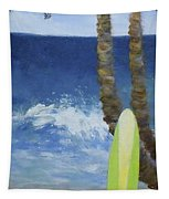 Tropical Surfboard Tapestry